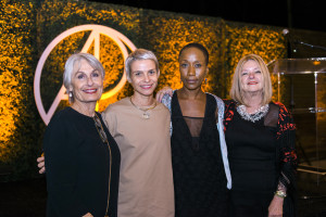 Susan Nimoy, Ana Pvcacki, Rokia Traore, and Olga Garay-English at CAP UCLA Benefit Model Mavericks 2015 on Oct. 8, 2015 (Photo by Tiffany Chien/Guest Of A Guest)